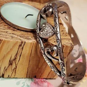 Brighton jeweled heart swirl bracelet bangle